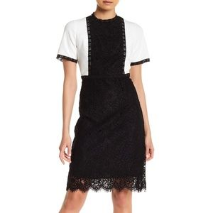 NANETTE nanette lepore Short Sleeve Lace Dress